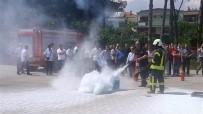 YANGIN TATBİKATI - Öğretmenlere Yangın Eğitimi Verildi