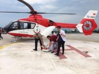 AMBULANS HELİKOPTER - Otobüs Kazasında Ağır Yaralanan Asker Ambulans Helikopter İle Sevk Edildi