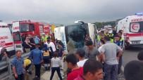 OTOBÜS ŞOFÖRÜ - Samsun'da Acemi Erleri Taşıyan Otobüs Devrildi