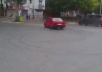 GÖZTEPE EĞITIM VE ARAŞTıRMA HASTANESI - Hastane önünde 'drift' yapan maganda kamerada