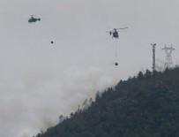 YANGıN YERI - İzmir'de makilik alanda yangın