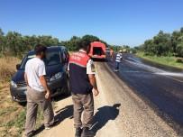 KURUKÖPRÜ - Kasası Açılan Kamyondan Zeytinler Yola Saçıldı