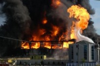 KAYAPA - Bursa'da büyük yangın! Dumanlar gökyüzünü kapladı..