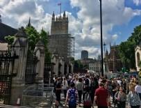 YANGıN YERI - İngiltere parlamentosu boşaltıldı! Yangın alarmları çalıyor...