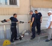 YAVRU KEDİ - (ÖZEL) Yavru Kedi Su Borusu Kırılarak Kurtarıldı
