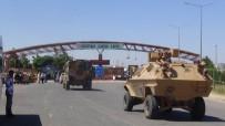 ÖNCÜPINAR - Sınırda Askeri Araç Ve İş Makinesi Yoğunluğu