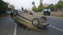 MEHTAP - Samsun'da Otomobil Takla Attı Açıklaması 4 Yaralı