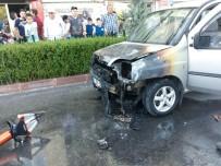 NIĞDE MERKEZ - Seyir Halindeki Otomobil Biranda Alev Aldı