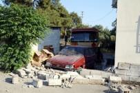 AKARYAKIT TANKERİ - Antalya'da Akaryakıt Tankeri Evin Bahçesine Daldı
