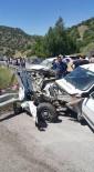 HITIT ÜNIVERSITESI - Çorum'da İki Otomobil Çarpıştı Açıklaması 1 Ölü, 1 Yaralı