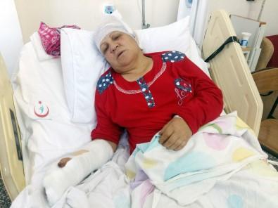 Baltalı dehşet: Başına 80 dikiş atıldı