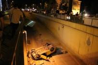KıSıKLı - Ticari Taksi Alt Geçide Uçtu Açıklaması 3 Yaralı