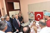 HATAY VALİSİ - Vali Ata, Saldırıda Yaralanan Polisi Ziyaret Etti