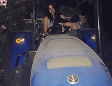 Asena Atalay Lamborghini'den indi traktöre bindi