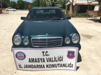 BOĞAZKÖY - Kaçak Otomobil Amasya'da Yakalandı