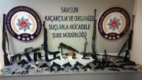 POMPALI TÜFEK - Samsun Suç Örgütü Cephanelik İle Yakalandı Açıklaması 28 Gözaltı