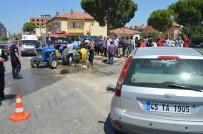 KIRMIZI IŞIK - Saruhanlı Kavşağında Trafik Kazası Açıklaması 1 Yaralı