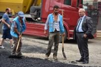 MAHMUT ŞAHIN - Başkan Albayrak, Yol Yapım Çalışmalarını Denetledi