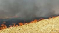 ADıYAMAN ÜNIVERSITESI - Hastaneye Sıçrama Tehlikesi Olan Anız Yangınına Yangın Tüpleriyle Müdahale Edildi