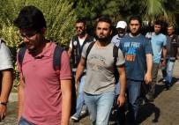 GÖCEK - Rodos'a Kaçarken Yakalanan 5 FETÖ Zanlısı Adliyede