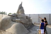 GÖKÇEN ÖZDOĞAN ENÇ - 15 Temmuz 'Kum Heykel' İle Anlatıldı