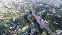 ALTUNIZADE - 15 Temmuz Şehitler Köprüsü'ne Akan İnsan Seli Havadan Görüntülendi