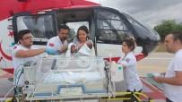 AMBULANS HELİKOPTER - Bebeğin Yardımına Ambulans Helikopter Yetişti