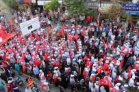 MEHTERAN TAKıMı - Tekirdağlılar 15 Temmuz Şehitleri İçin Yürüdü