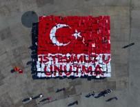 ANMA ETKİNLİĞİ - Yüzlerce Minik Öğrenciden 15 Temmuz Temalı Canlı Resim