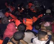YARDIM TALEBİ - 57 Kaçak Göçmen Son Anda Kurtarıldı