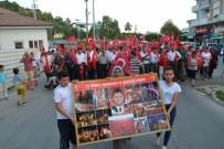 KOMPOZISYON - Bozyazılılar 15 Temmuz İçin Yürüdü
