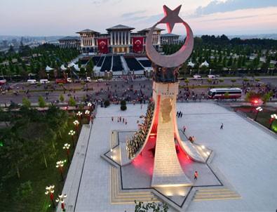 15 Temmuz Şehitler Anıtı'nın açılışı yapıldı