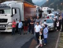 ABANT - TEM'de trafik durdu! Böyle beklediler