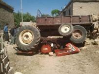 YUSUF ÖZDEMIR - Çalıştırdığı Traktörün Altında Kalan Çocuk Yaralandı