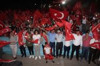 HASAN BASRI GÜZELOĞLU - Güneydoğu'da Onbinler Demokrasi Nöbetinde Buluştu