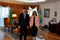 TÜRK HALKI - Patronların Başkanı Kazakistan Cumhuriyeti Ankara Büyükelçiliğinde