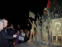 Erdoğan ve Yıldırım Şehitler Abidesi'nin ziyaret etti