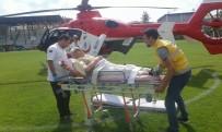 AKDENIZ ÜNIVERSITESI - Hava Ambulansı Kalp Rahatsızlığı Geçiren Yaşlı Adam İçin Havalandı