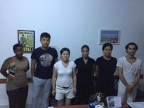 KAÇAK İŞÇİ - 5 Yıldızlı Otele Kaçak İşçi Baskını Açıklaması 4'Ü Kadın 6 Kişi Yakalandı