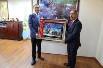 YÜREĞIR BELEDIYE BAŞKANı - Başkan Çelikcan, AB Bakanı Ömer Çelik'e 15 Temmuz Şehitler Anıtı Tablosu Hediye Etti