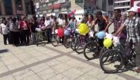 DÜĞÜN KONVOYU - Erzincan'da Bisikletli Düğün Konvoyu Şaşırttı