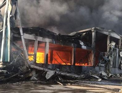 Çerkezköy'de fabrikada yangın!