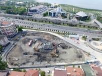 İSTİNAT DUVARI - Kent Meydanı Ve Katlı Otopark İçin İstinat Duvarı Yapılıyor