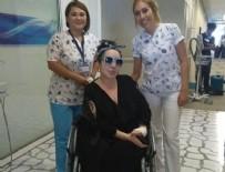 NUR YERLITAŞ - Tekerlekli sandalyede bu görüntüyü verdi