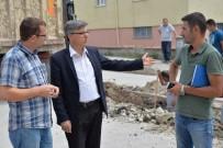 DIKILITAŞ - Yağmur Suyu Tahliye Hattı Çalışmaları Devam Ediyor