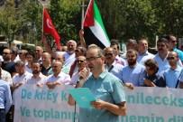 Amasyalılardan İsrail'e Mescid-İ Aksa Protestosu