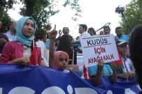 İSRAIL BAYRAĞı - İsrail'in Kudüs Kuşatması Bursa'da Protesto Edildi