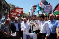 ANADOLU GENÇLIK DERNEĞI - Kayseri'deki Kudüs Protestolarında İsrail Bayrağı Yaktılar