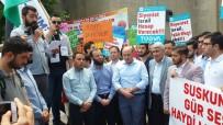 MUSA YıLMAZ - Kütahya'da Cuma Namazı Çıkışı İsrail Protesto Edildi