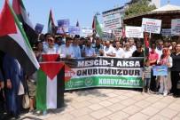 İNSANLIK SUÇU - Manisa'da Kudüs İçin Toplandılar